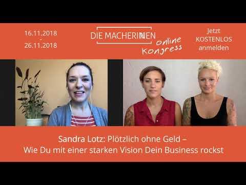 Sandra Lotz als Speakerin beim Die Macherinnen Online Kongress
