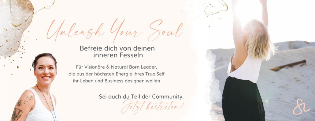 Sandra Lotz - Facebook Banner Unleash your Soul